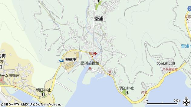 大分県津久見市堅浦321周辺の地図