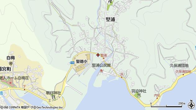 大分県津久見市堅浦318周辺の地図
