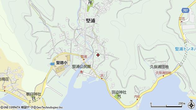 大分県津久見市堅浦908周辺の地図