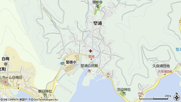 大分県津久見市堅浦331周辺の地図