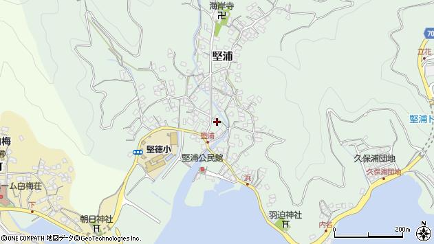 大分県津久見市堅浦323周辺の地図