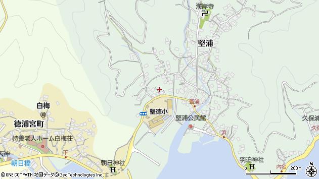 大分県津久見市堅浦284周辺の地図