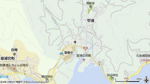 大分県津久見市堅浦276周辺の地図
