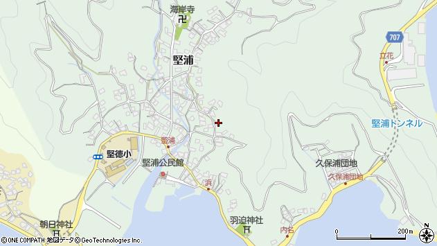 大分県津久見市堅浦965周辺の地図