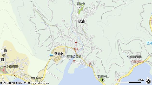 大分県津久見市堅浦332周辺の地図
