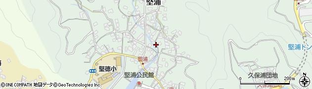 大分県津久見市堅浦365周辺の地図