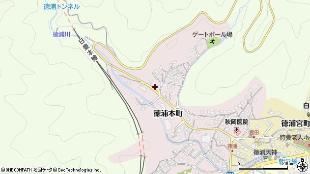 大分県津久見市徳浦本町14周辺の地図