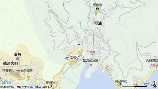 大分県津久見市堅浦275周辺の地図