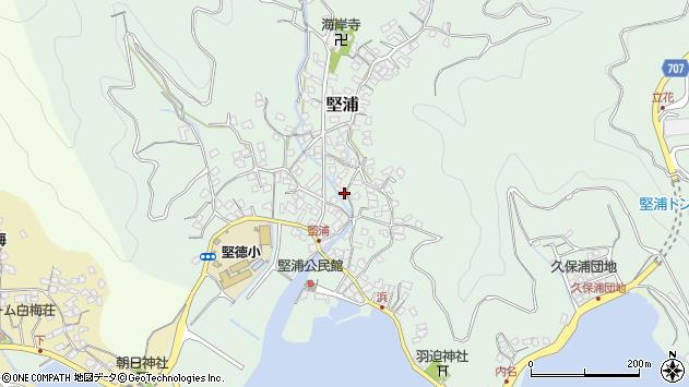 大分県津久見市堅浦366周辺の地図