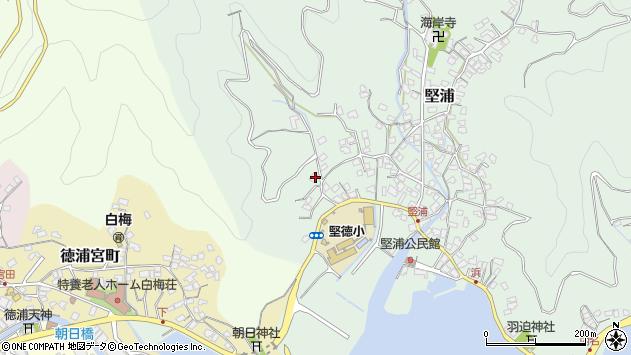 大分県津久見市堅浦45周辺の地図