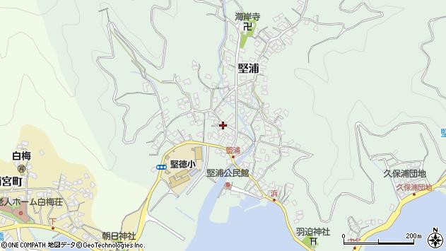 大分県津久見市堅浦336周辺の地図