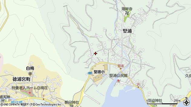 大分県津久見市堅浦289周辺の地図