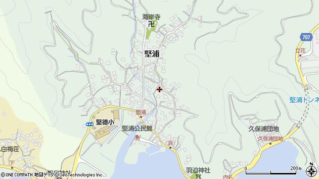 大分県津久見市堅浦900周辺の地図