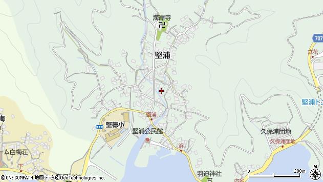 大分県津久見市堅浦370周辺の地図