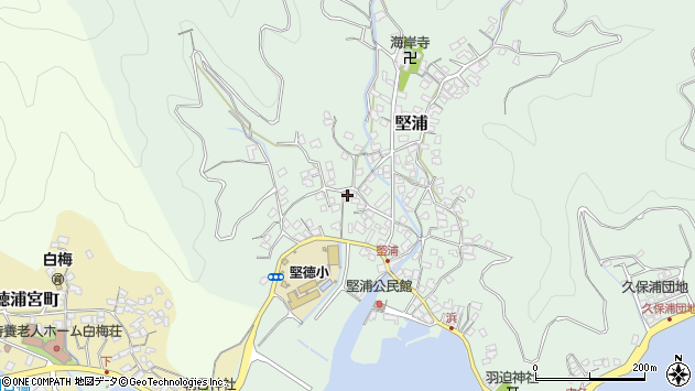 大分県津久見市堅浦345周辺の地図