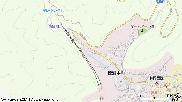 大分県津久見市徳浦本町15周辺の地図
