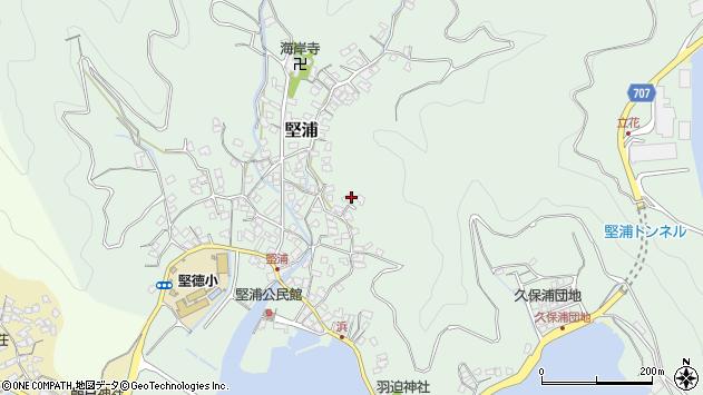 大分県津久見市堅浦951周辺の地図