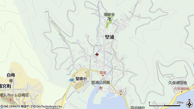 大分県津久見市堅浦350周辺の地図