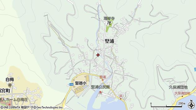 大分県津久見市堅浦353周辺の地図