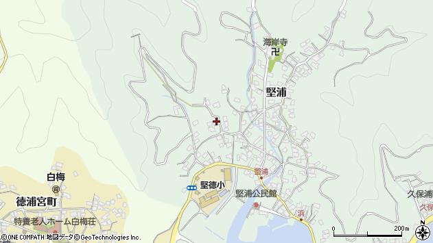 大分県津久見市堅浦196周辺の地図