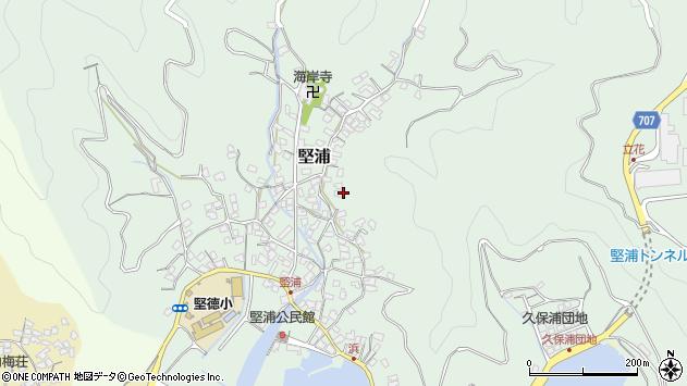 大分県津久見市堅浦889周辺の地図