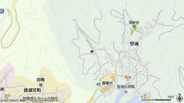 大分県津久見市堅浦69周辺の地図