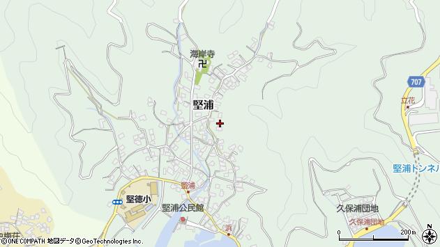 大分県津久見市堅浦884周辺の地図