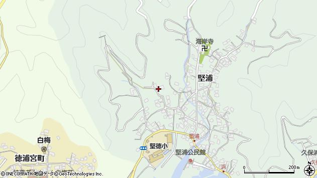 大分県津久見市堅浦249周辺の地図
