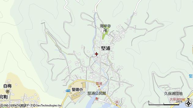 大分県津久見市堅浦387周辺の地図