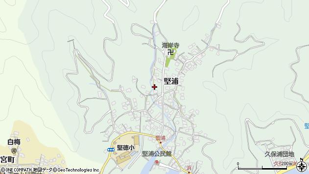 大分県津久見市堅浦388周辺の地図