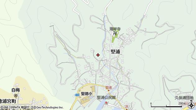 大分県津久見市堅浦259周辺の地図