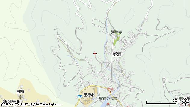 大分県津久見市堅浦257周辺の地図