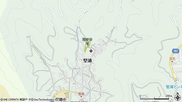 大分県津久見市堅浦407周辺の地図