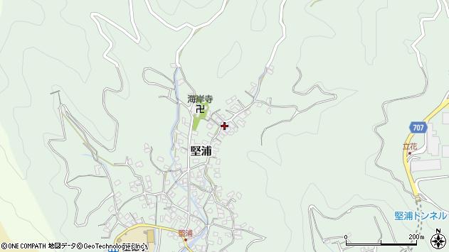 大分県津久見市堅浦869周辺の地図