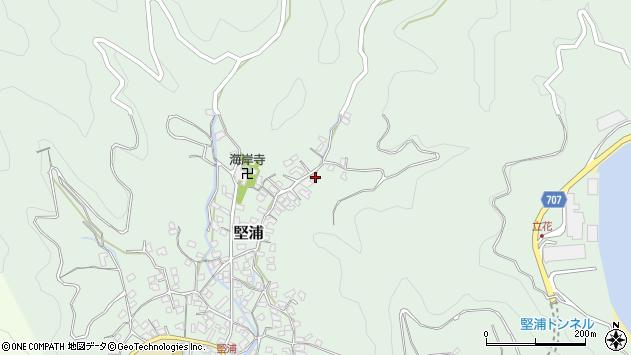 大分県津久見市堅浦860周辺の地図
