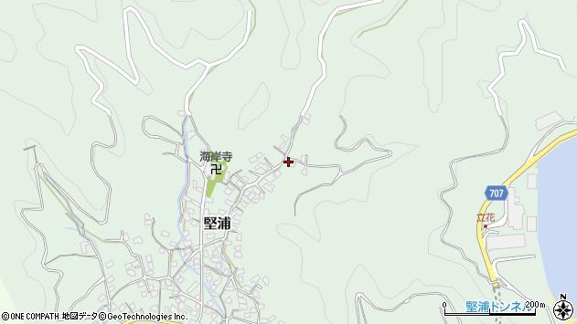 大分県津久見市堅浦789周辺の地図