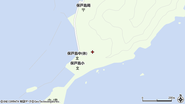 大分県津久見市保戸島65周辺の地図