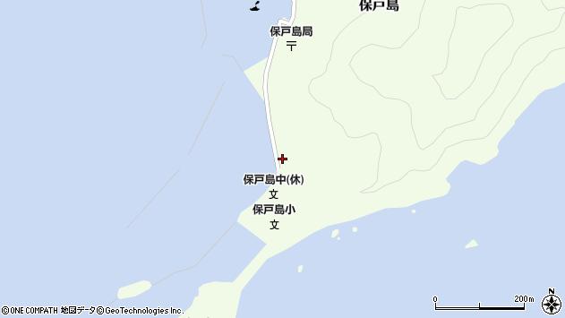 大分県津久見市保戸島21周辺の地図