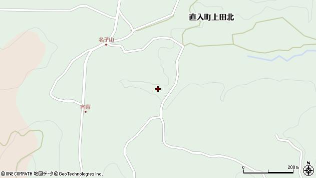 大分県竹田市直入町大字上田北名子山周辺の地図