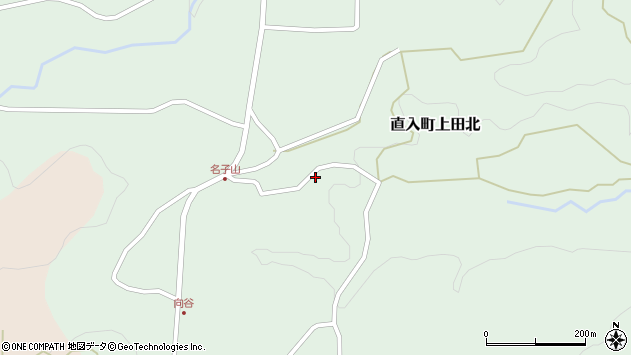 大分県竹田市直入町大字上田北1331周辺の地図