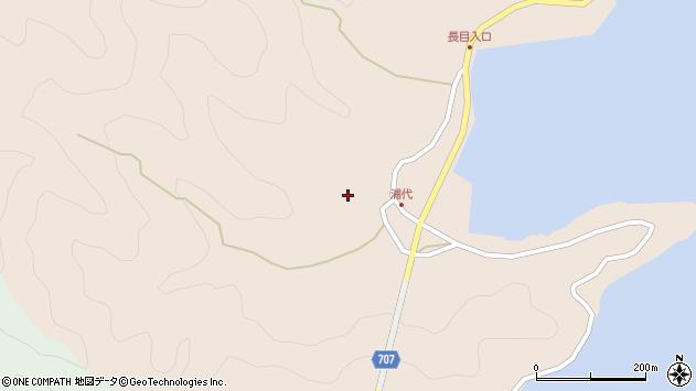 大分県津久見市長目525周辺の地図