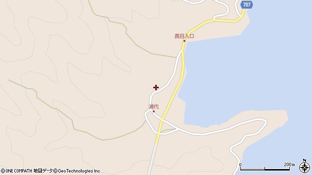 大分県津久見市長目645周辺の地図