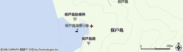 大分県津久見市保戸島周辺の地図