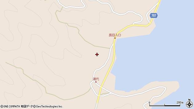 大分県津久見市長目664周辺の地図