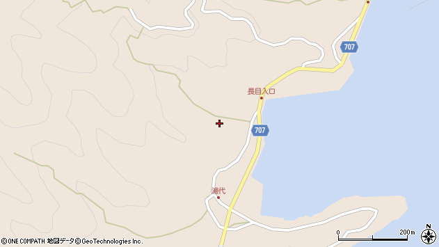 大分県津久見市長目685周辺の地図