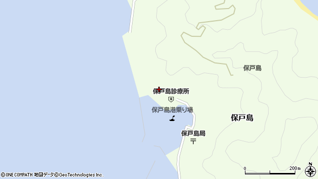 大分県津久見市保戸島871周辺の地図