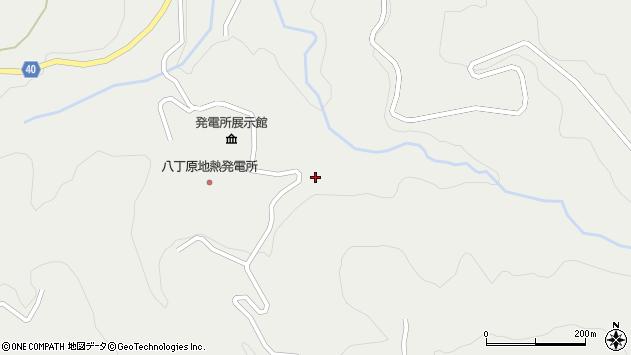 大分県玖珠郡九重町湯坪八丁原周辺の地図