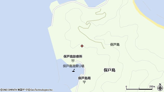 大分県津久見市保戸島宮ノ谷周辺の地図
