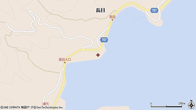 大分県津久見市長目2周辺の地図
