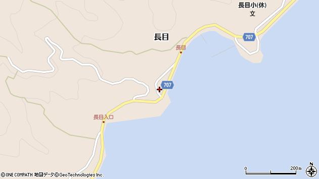 大分県津久見市長目1348周辺の地図